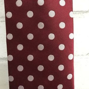 Tie Bar Red Polka Dot Tie